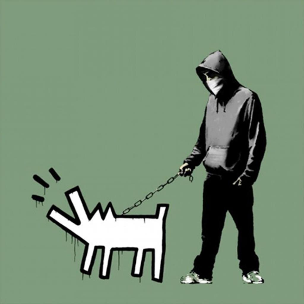 Banksy - Choose your Weapon Slate - Signed Screenprint