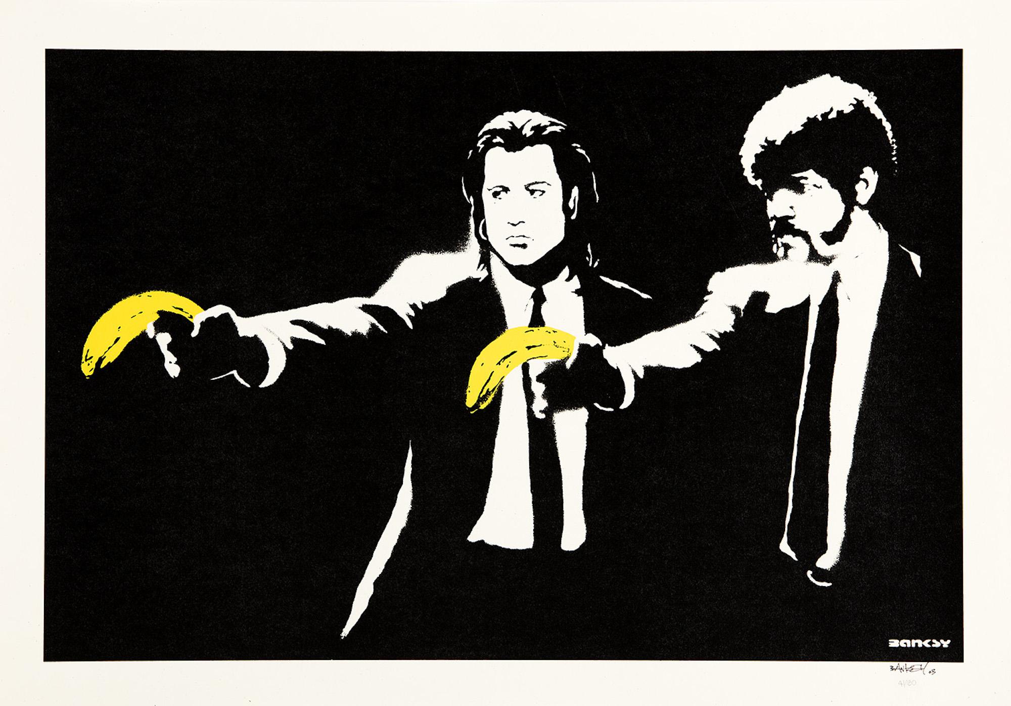 Banksy - Pulp Fiction - Signed Screenprint