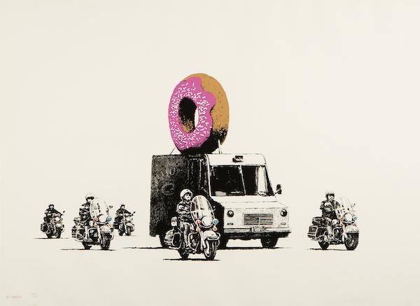 Banksy - Strawberry Donuts - Signed Screenprint