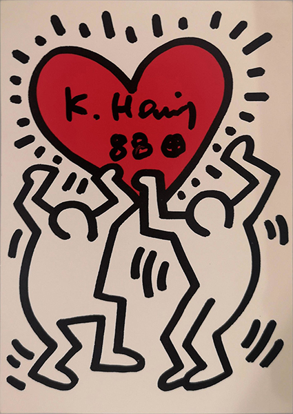 Keith Haring - Love - Signed Postcard