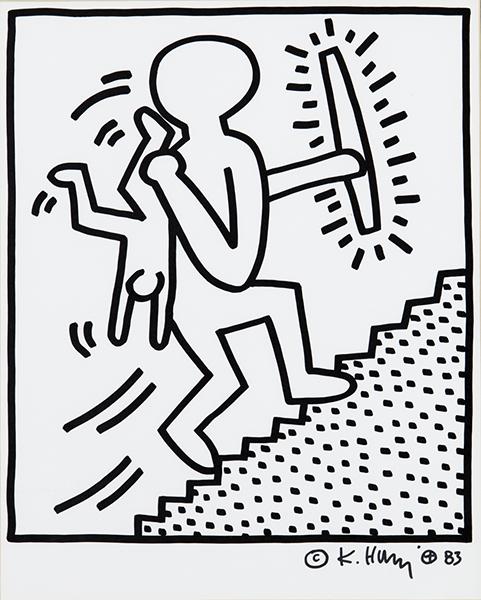 Keith Haring - Portfolio Lucio Amelio - Sans Titre 15