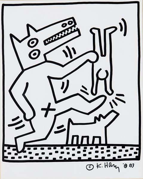 Keith Haring - Portfolio Lucio Amelio - Sans Titre 20