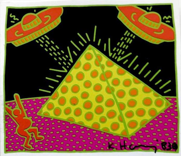 Keith Haring - UFO - Screenprint