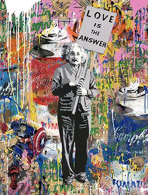 Mr. Brainwash - Einstein - Paper - en vente en ligne